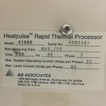 AG Associates Heatpulse 4108 SN 1D92141