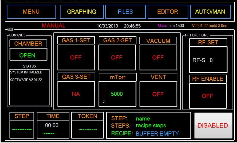 Micro IIon Plasma RIE-SW-GUI